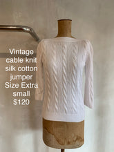 Load image into Gallery viewer, Vintage Cable cotton jumper - White