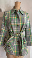 Load image into Gallery viewer, Vintage 1970's wool jacket with silver coin buttons
