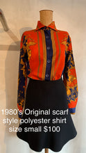 Load image into Gallery viewer, Vintage 1980's Original scarf style shirt