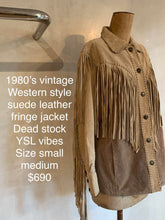 Load image into Gallery viewer, Vintage 1980's Western style suede jacket