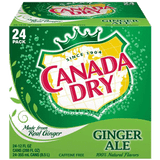 Canada Dry Ginger Ale 12 oz 24 pk