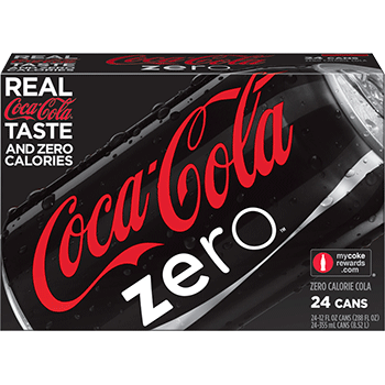 Coke Zero Can 12 oz 24 pk