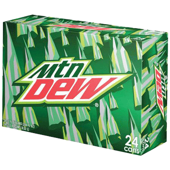 Mountain Dew Can 12 oz 24 pk