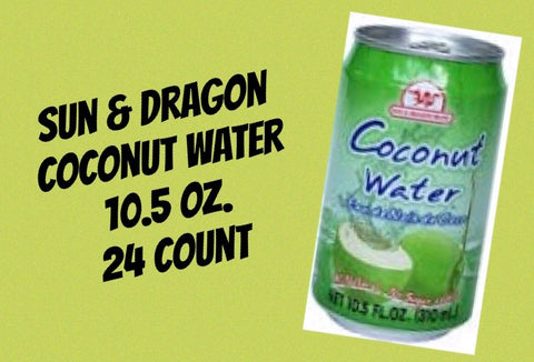 Sun and Dragon Coconut Water Can 10oz/24ct
