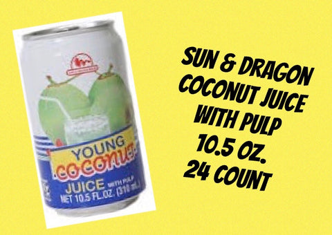 Sun & Dragon Coconut Juice Can 12oz/24ct