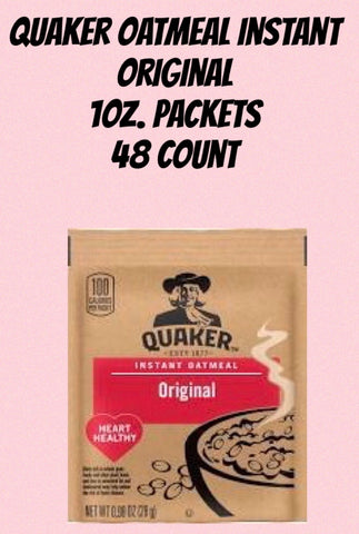 Quaker Oatmeal Instant ORIGINAL Packets 1oz / 48ct.