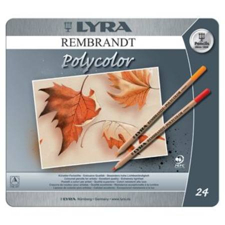 Lyra Rembrandt Polycolor Tin 24 Assorted