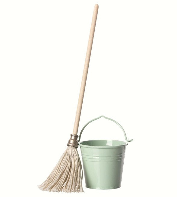 Miniature Bucket and Mop