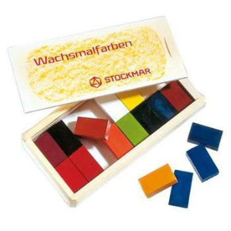Stockmar Wax Crayons 16 Blocks in Wooden Box