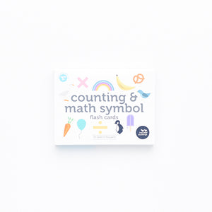 Counting and Math Symbol Flash Cards