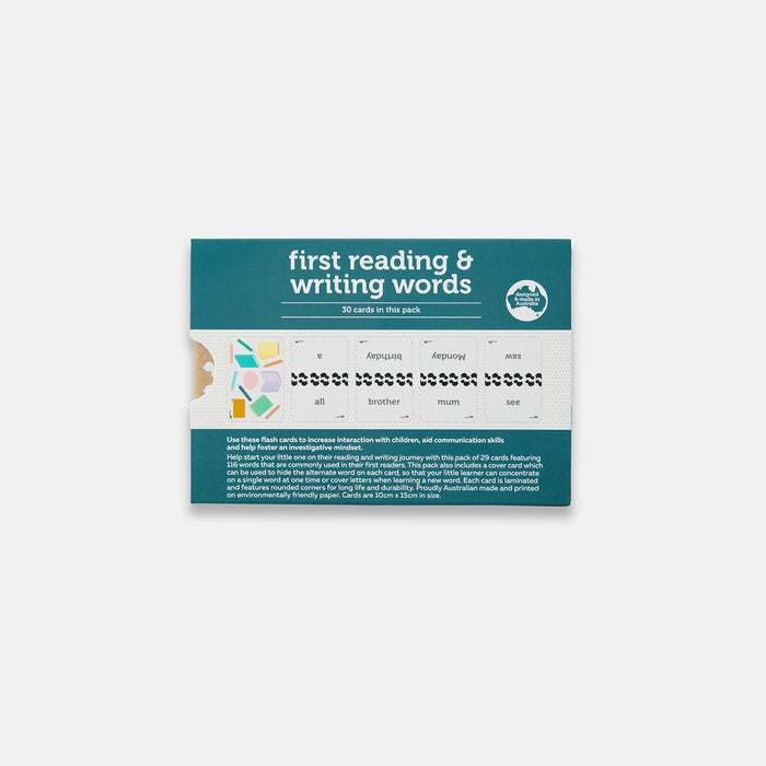 First Reading & Writing Word Flash Cards