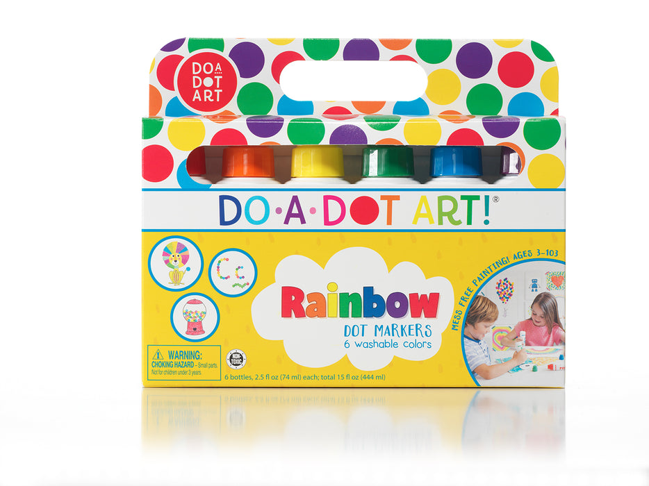 Rainbow Dot Markers 6 Pack