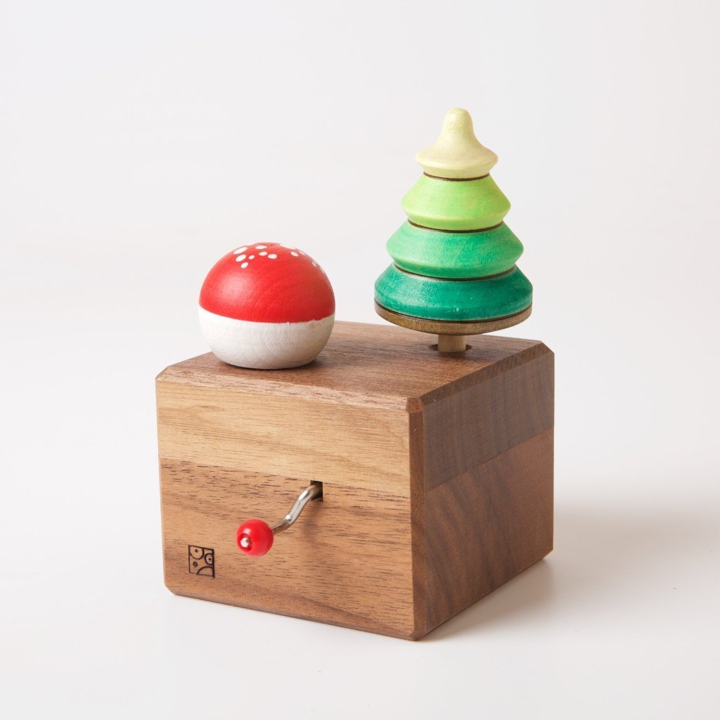 Mader || Music Box with Tree Top and Fly Agaric Turn Top