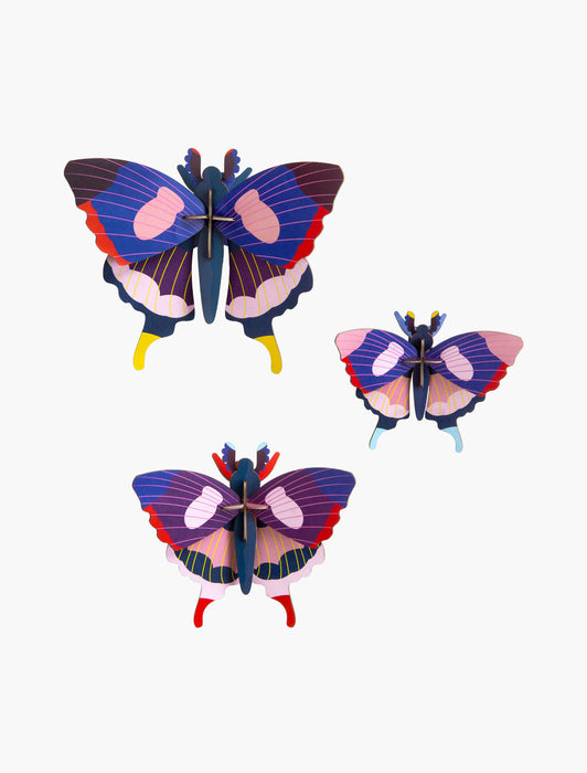 Swallowtail Butterflies, set of 3