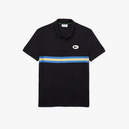 Playera Polo Lacoste Regular Fit Badge Piqué Para Hombre