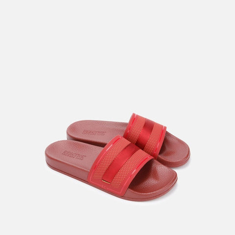 Sandalia Casual Playa Screen Mixed Slide Roja Para Hombre