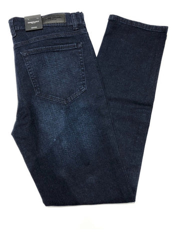 Jeans Mezclilla Marino Stretch Slim Fit Kenneth Cole Hombre