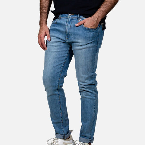 Jeans Básico Stretch Slim Fit Claro Kenneth Cole Para Hombre