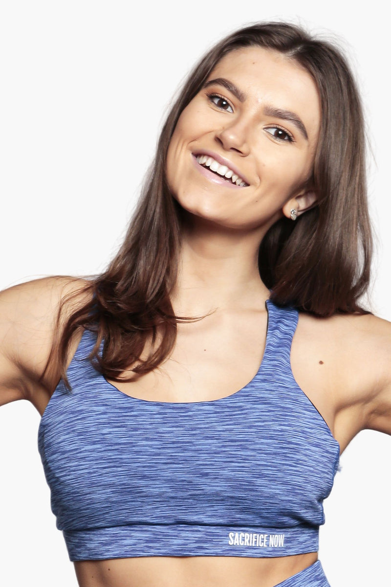 Aqua Glow - Sports Cross Bra