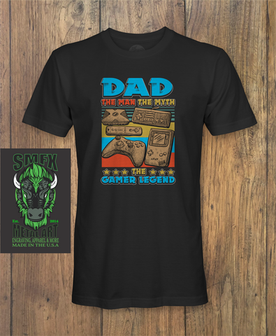DAD THE GAMER LEGEND Dad Fathers day T-Shirt