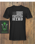 Husband Daddy Protector Hero Fathers Day Fathers Day T-Shirt