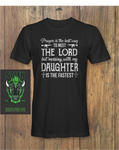 If You Mess My Daughter Fathers Day T-Shirt