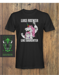 Like Father Like Daughter Unicorn Fathers day T-Shirt