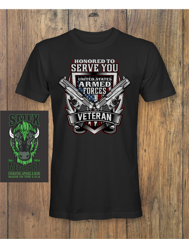 UNITED STATES ARMED FORCES VETERAN T-shirt