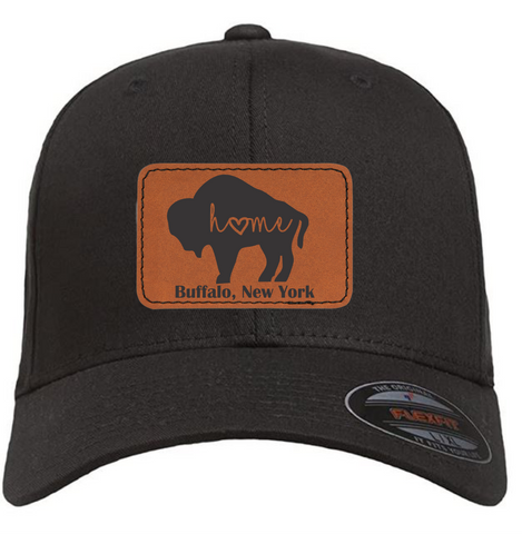 Buffalo Flexfit Cotton Twill Fitted Cap Hat