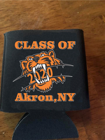 Akron Class of 2020 Tiger Koozie - Premium Beverage Cooler