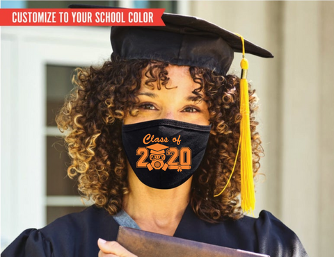 Class of 2020 Covid FM20 Flat Face Cover - Custom Color