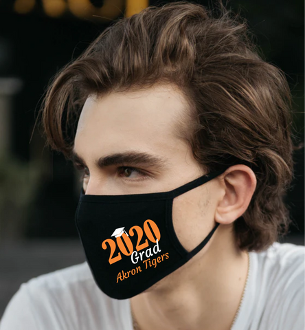 Class of 2020 Grad Tigers FM20 Flat Face Cover
