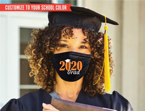 Class of 2020 Grad FM20 Flat Face Cover - Custom Color
