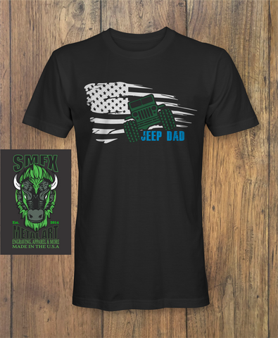 Jeep Dad Flag Fathers day T-Shirt