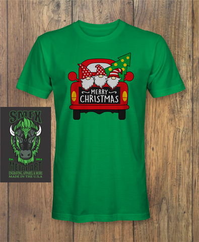 Merry Christmas Gnome Truck Shirt