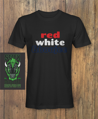 red white and boujee T-shirt