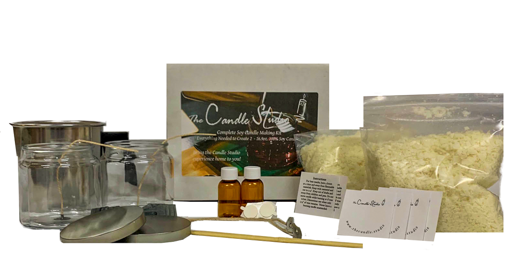 Complete Soy Candle Making Kit - Makes 2! - Ships Free to U.S. - Including Virtual Youtube Lesson!