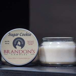 Sugar Cookie Scented, Cream Colored Soy Jar Candle