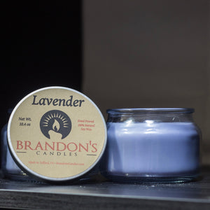 Lavender Scented, Purple Colored Soy Jar Candle