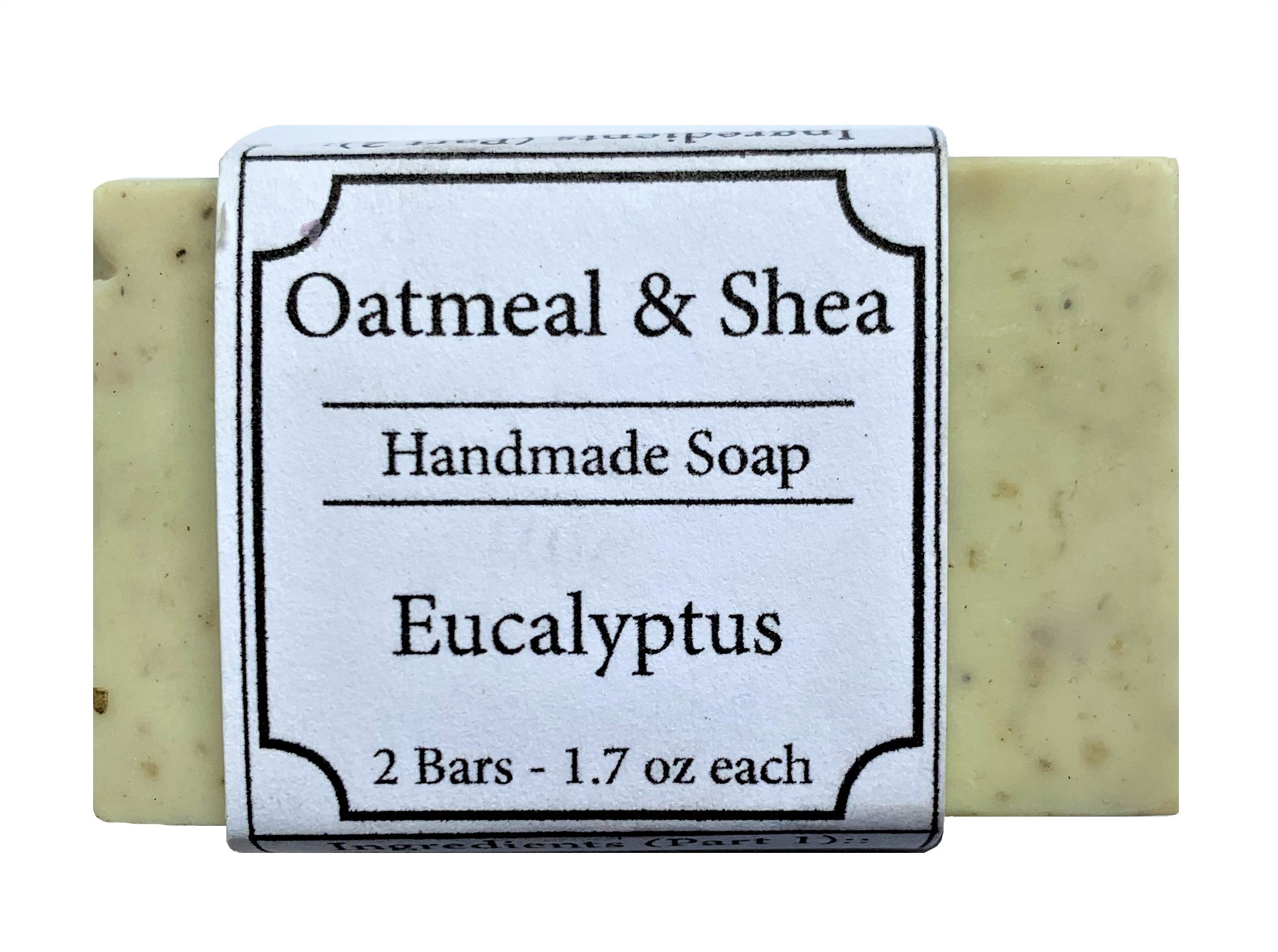 Eucalyptus Scented, Oatmeal & Shea Organic Face and Body Soap