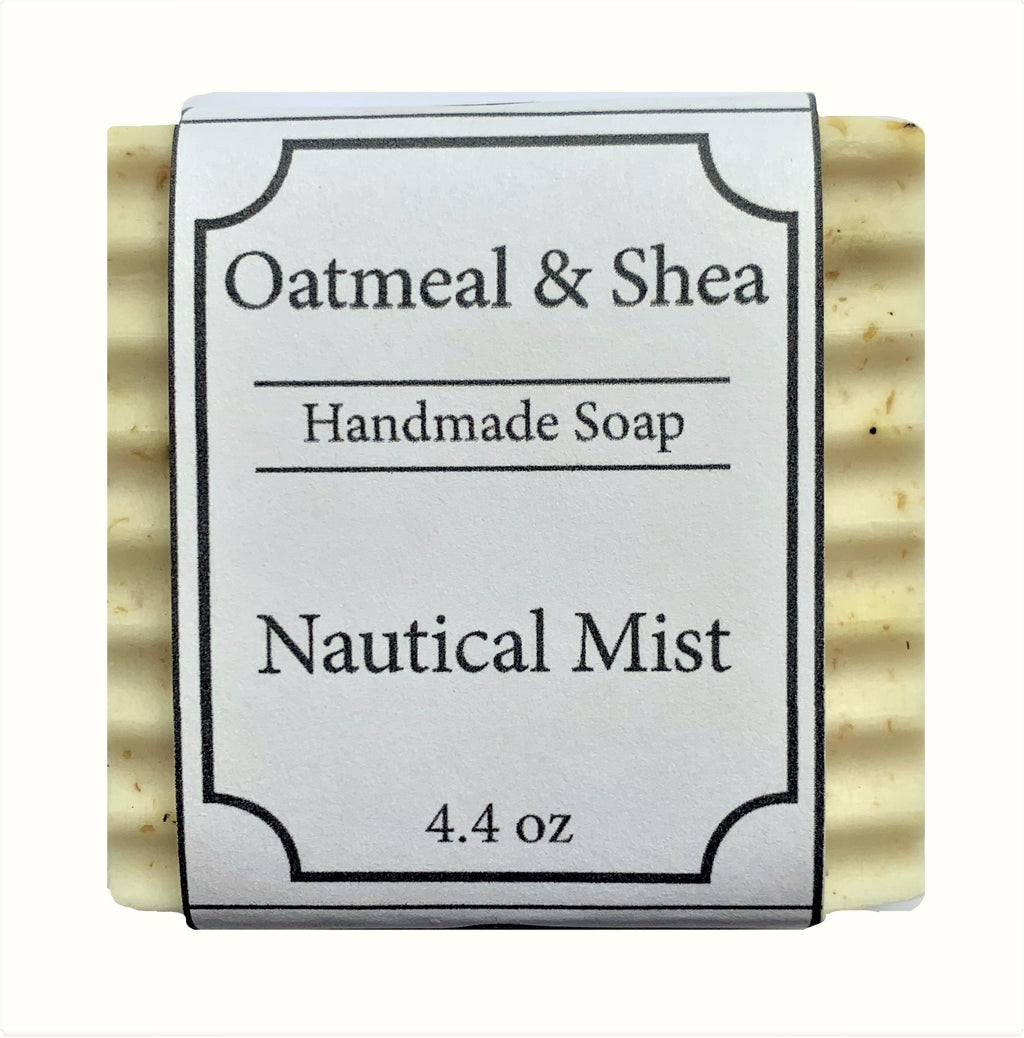 Nautical Mist Scented, Oatmeal & Shea Organic Face and Body Soap