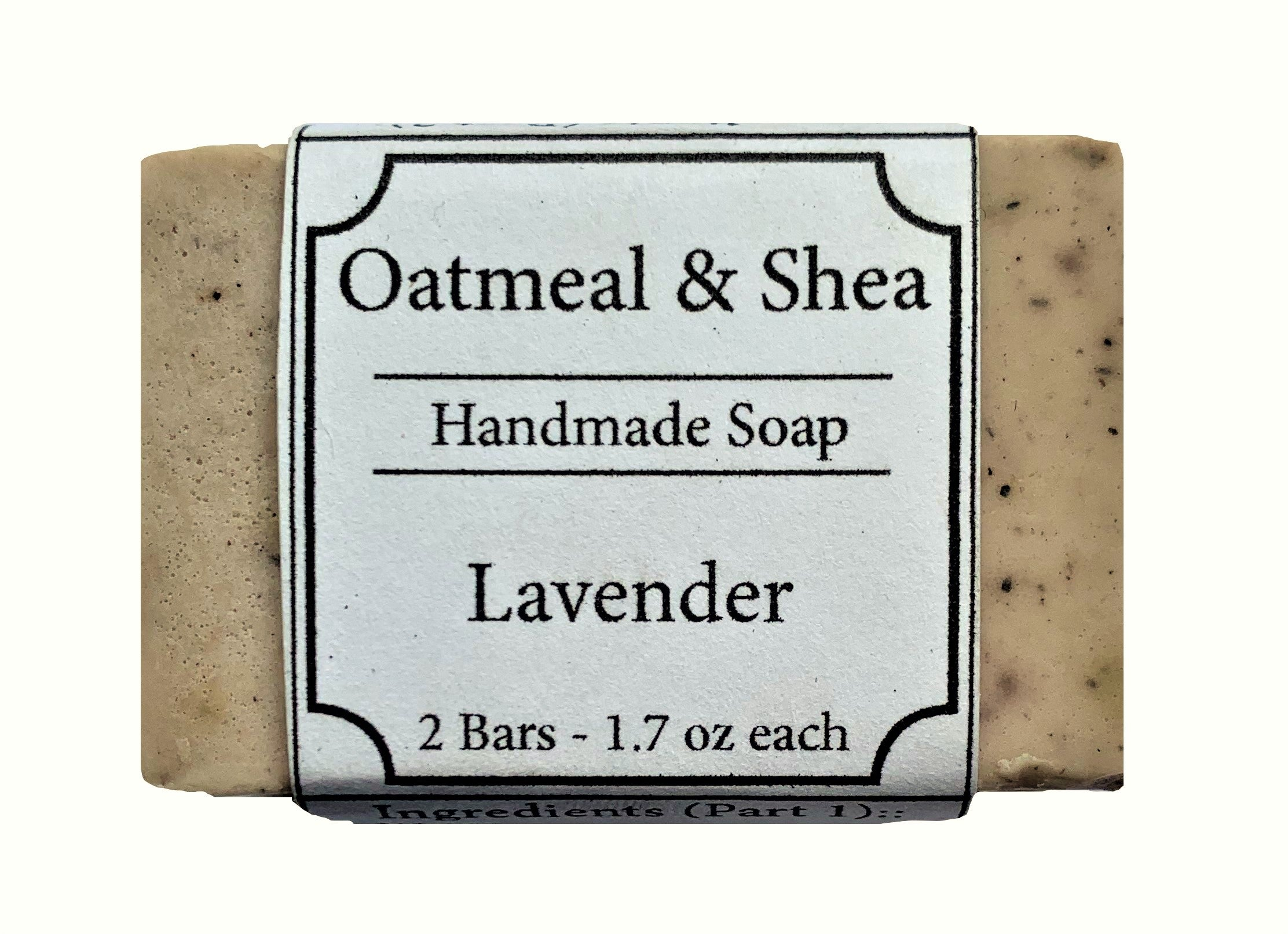 Lavender Scented, Oatmeal & Shea Organic Face and Body Soap