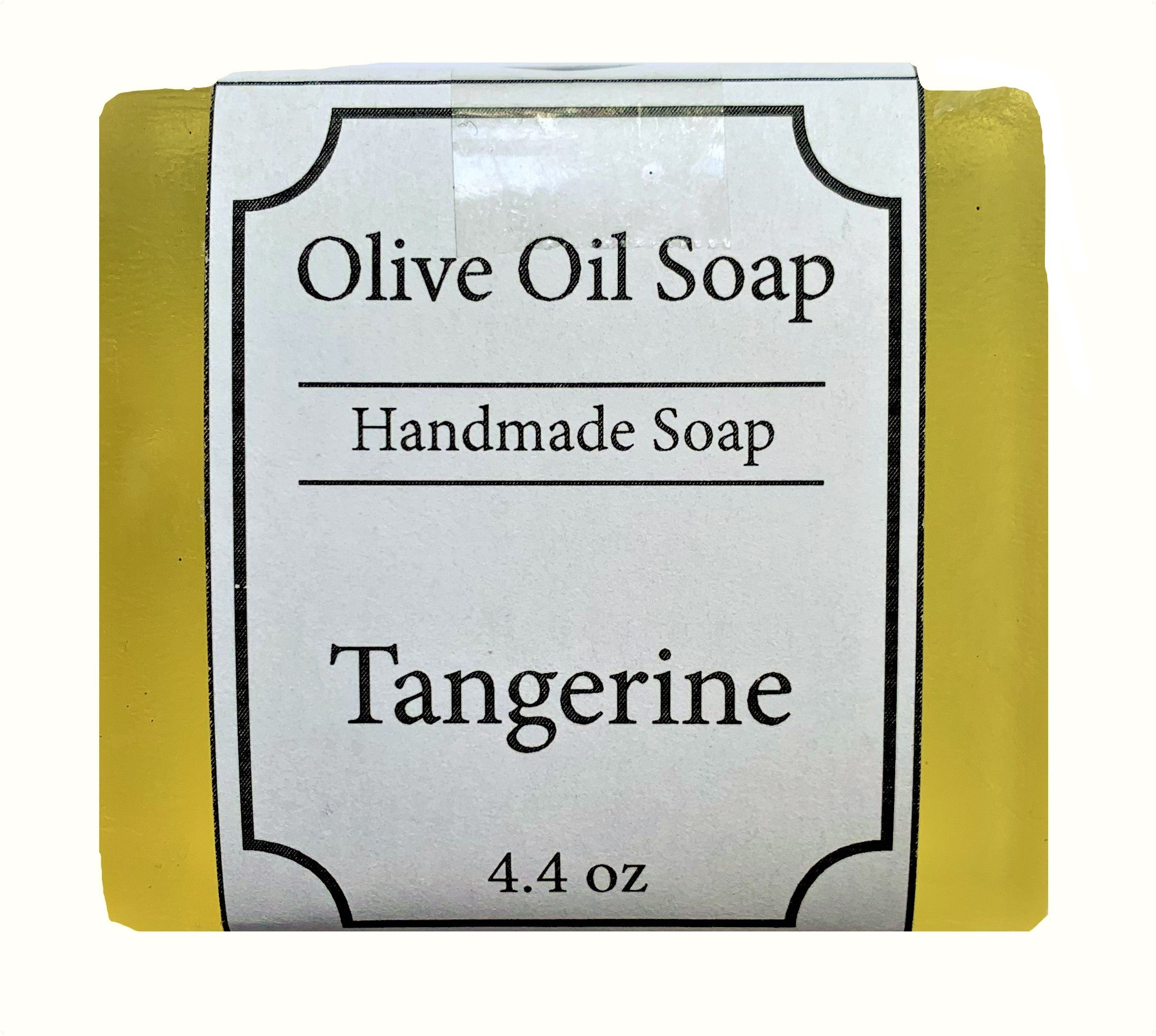 Tangerine Scented, Olive Oil Organic Face and Body Soap