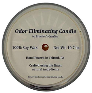 Burmese Teakwood Scented Odor Eliminating Candle, 10.7 oz
