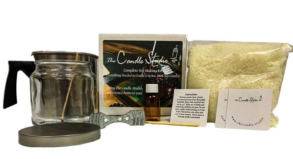 Complete Soy Candle Making Kit - Ships Free to U.S. - Including Virtual Youtube Lesson!