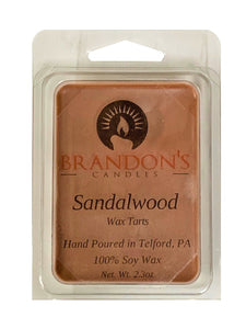 Sandalwood Scented, Brown Colored Soy Wax Tart, 2.3 oz