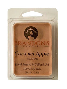 Caramel Apple Scented, Tan Colored Soy Wax Tart, 2.3 oz