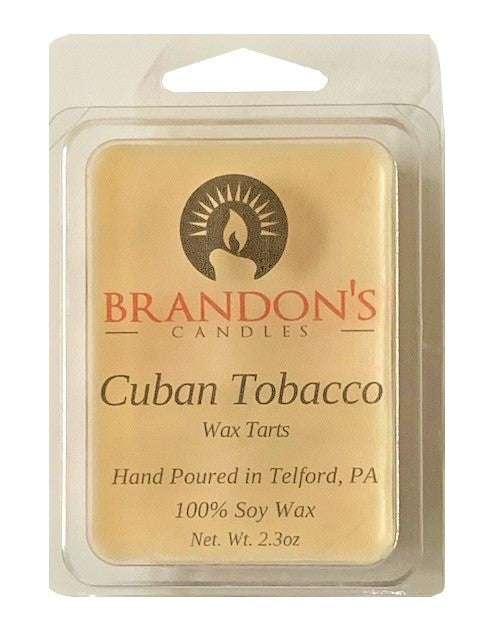 Cuban Tobacco Scented, White Colored Soy Wax Tart, 2.3 oz