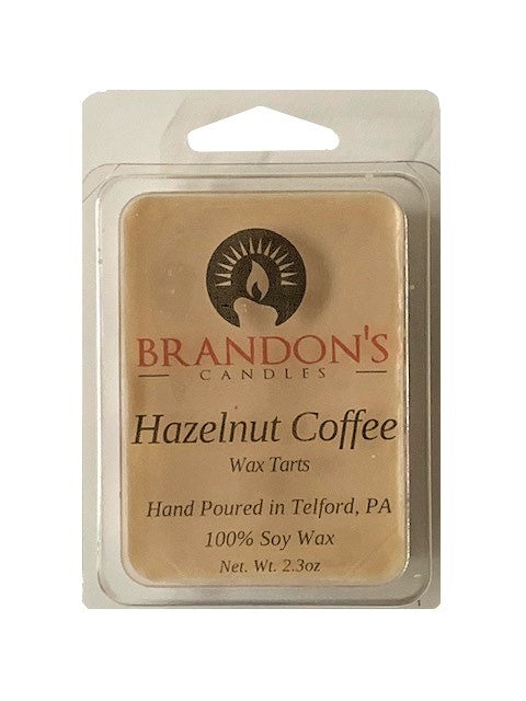 Hazelnut Coffee Scented, Tan Colored Soy Wax Tart, 2.3 oz