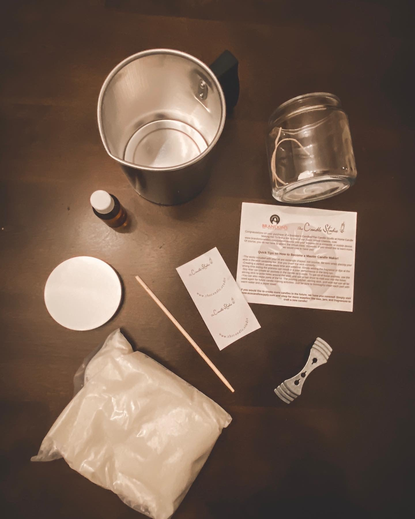 Complete Soy Candle Making Kit - Ships Free to U.S. - Including Virtual Zoom Lesson!